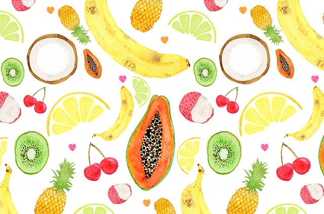 fruit salad pattern by laura redburn