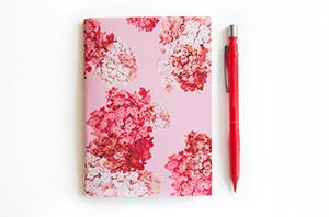 hydrangea notebook from laura redburn
