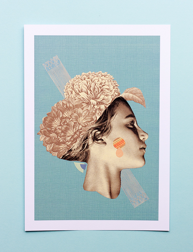 please don't leave me to remain - collage by laura redburn