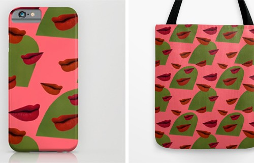 retro lips products from society 6