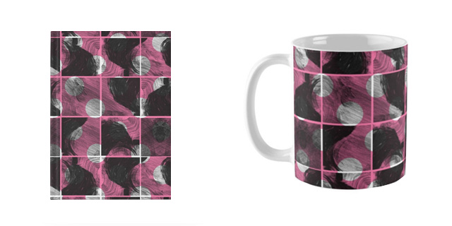 'scribble' pattern redbubble products by laura redburn