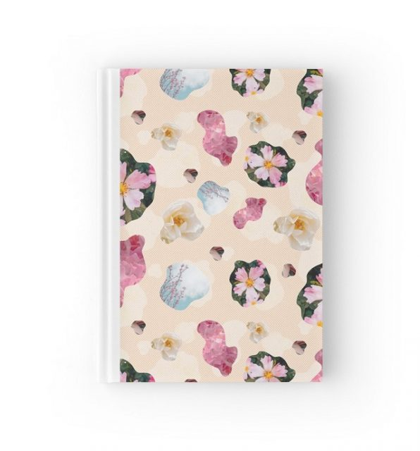spring fling pattern hardcover notebook