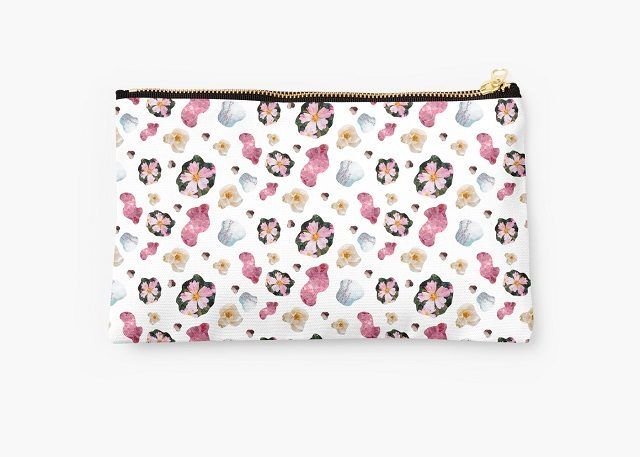 spring fling pattern pouch